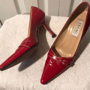 Isaac Mizrahi Red Patent Leather Heels 6.5